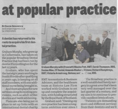 CFE Dental Newspaper Article